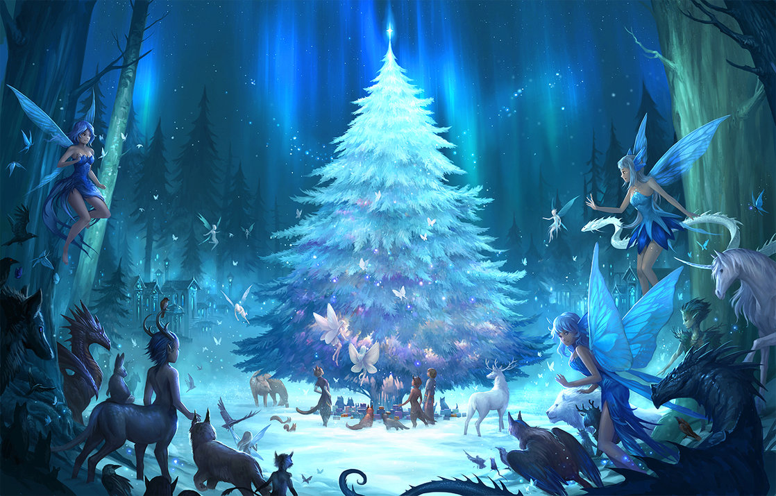mystical christmas wallpaper - photo #2